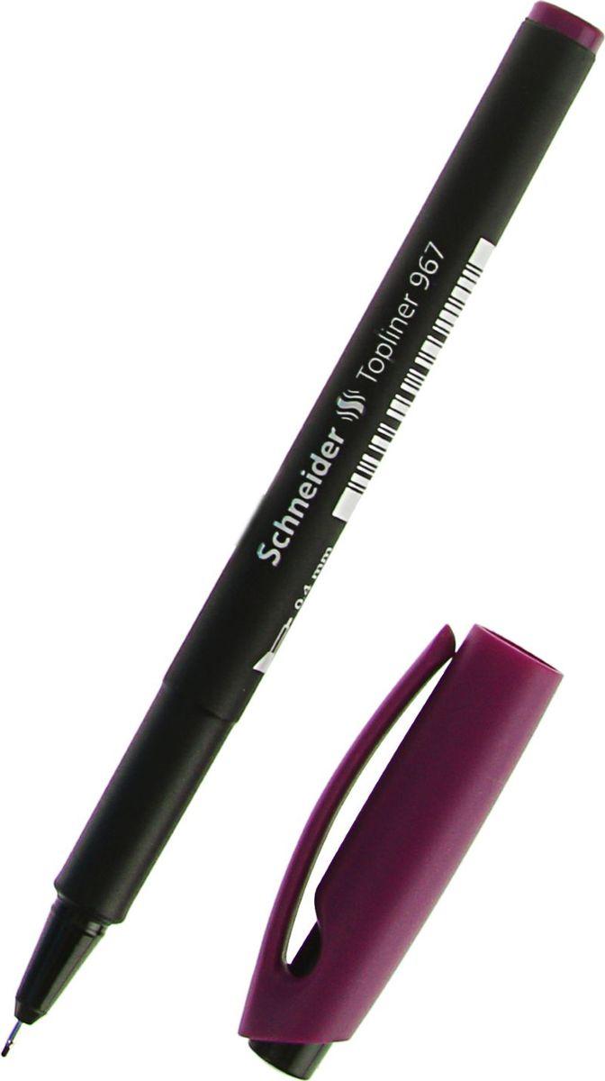 Schneider Ручка капиллярная Topliner 967 фиолетовая1782214Schneider Topliner 967 — это капиллярная ручка с металлическим трубчатым наконечником. Инструмент разработан специально для четкого и тонкого письма, рисования и черчения. Полипропилен, из которого изготовлен корпус, предотвращает испарение чернил и обеспечивает изделию длительный срок хранения. Ширина штриха — 0,4 мм.