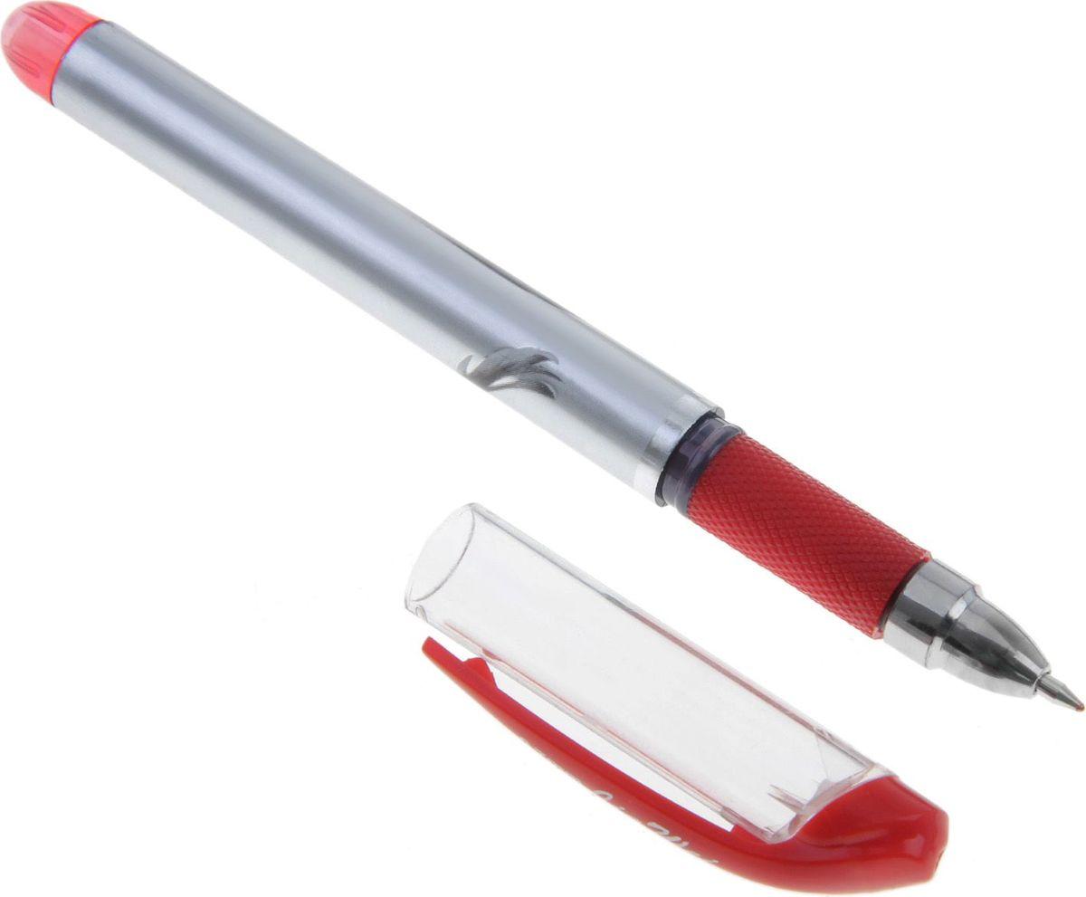Ручка гелевая Ink красная640927Ручка гелевая 0,5 мм красная INK серебристый корпус с резиновым держателемРучка — отличный выбор для любителей мягкого и удобного письма. Гелевая консистенция чернил равномерно распределяется по бумаге и быстро сохнет. Гладкое скольжение пишущего узла, удобный корпус и доказанная надежность делает такие ручки одними из самых популярных письменных принадлежностей среди детей и взрослых.