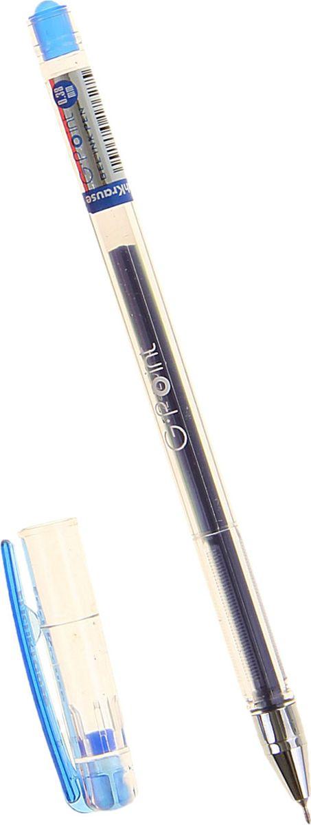 Erich Krause Ручка гелевая G-Point синяя159853Удобная гелевая ручка с прозрачным корпусом для контроля уровня чернил. Металлизированный наконечник. Пишущий узел 0. 38 мм обеспечивает тонкое и четкое письмо. Цвет клипа соответствует цвету чернил. Сменный стержень. Рекомендуется использовать стержень Erich Krause G-Point.