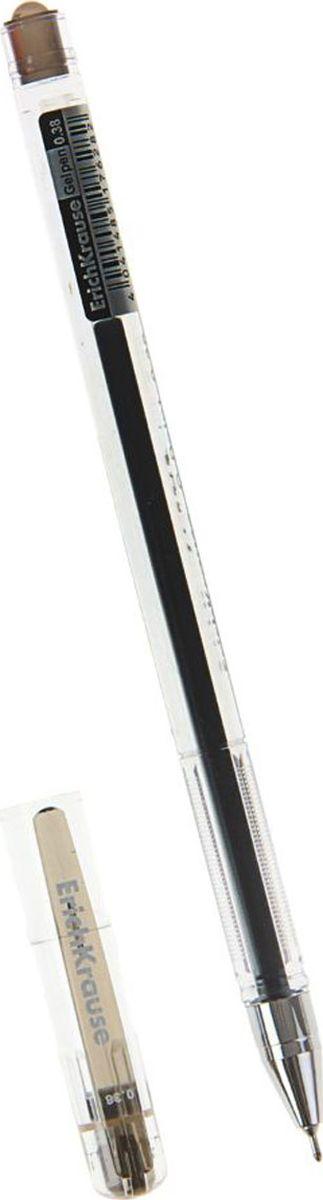 Erich Krause Ручка гелевая G-Point черная159854Удобная гелевая ручка с прозрачным корпусом для контроля уровня чернил. Металлизированный наконечник. Пишущий узел 0. 38 мм обеспечивает тонкое и четкое письмо. Цвет клипа соответствует цвету чернил. Сменный стержень. Рекомендуется использовать стержень Erich Krause G-Point.