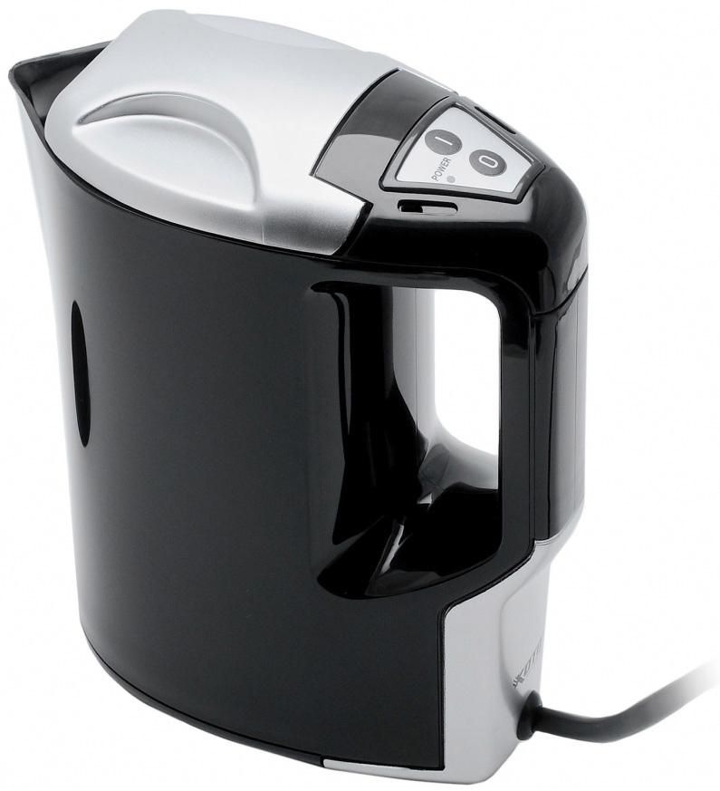 Чайник Koto, автомобильный, цвет: черный, 1 л, 12В12V-601Автомобильный чайник Koto работает от гнезда прикуривателя 12В. Чайник с удобной ручкой, с фиксируемой крышкой. Чайник выполнен из высококачественного термостойкого пластика. Нагревательный элемент из нержавеющей стали, также имеется световой индикатор включения. Чайник позволит быстро вскипятить воду и заварить свежий чай. Такой чайник может стать отличным подарком для любого автомобилиста! Характеристики: Материал: пластик. Высота чайника: 19,5 см. Объем: 1 л. Длина шнура: 70 см. Напряжение: 12В. Мощность: 170 Ватт. Производитель: Китай. Артикул: 12V-601.