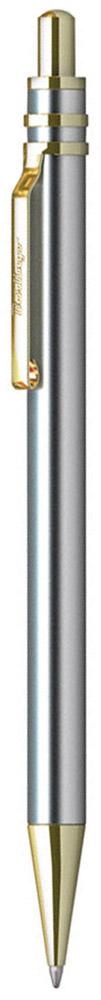 Berlingo Ручка шариковая Silver Premium цвет корпуса серебристый золотистыйCPs_72935Стильная и удобная шариковая ручка Berlingo Silver Premium с высококачественными чернилами обеспечивает ровное и мягкое письмо. Элегантная автоматическая шариковая ручка Berlingo Silver Premium изготовлена из меди и покрыта лаком. цвет корпуса ручки - серебристый, а элементы ручки - золотистые. Цвет чернил - синий. Диаметр пишущего узла - 0,7 мм. Ручка упакована в индивидуальный пластиковый футляр.