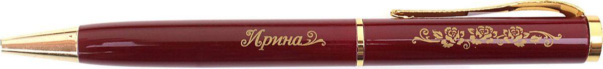 Ручка шариковая Ирина цвет бордовый синяя608196Хотите сделать по-настоящему индивидуальный подарок? Тогда вам непременно понравится стильная и удобная именная Ручка Ирина, в бархатном мешочке. Выполненная в насыщенном бордовом цвете в сочетании с золотистый гравировкой, сделанная уникальным художественным шрифтом, она станет достойным дополнением образа своей обладательницы. Поворотный механизм надежен и удобен в повседневном использовании – ручка не откроется случайно и не оставит синих чернильных пятен на одежде. Мягкий бархатный мешочек придает изделию неповторимый шарм, делая его желанным подарком по поводу и без.