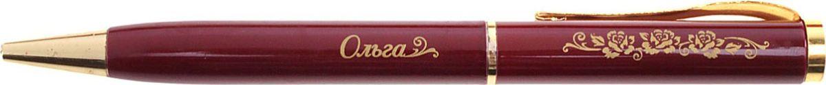Ручка шариковая Ольга цвет корпуса бордовый синяя608214Хотите сделать по-настоящему индивидуальный подарок? Тогда вам непременно понравится стильная и удобная именная Ручка Ольга в бархатном мешочке. Выполненная в насыщенном бордовом цвете в сочетании с золотистый гравировкой, сделанная уникальным художественным шрифтом, она станет достойным дополнением образа своей обладательницы. Поворотный механизм надежен и удобен в повседневном использовании – ручка не откроется случайно и не оставит синих чернильных пятен на одежде. Мягкий бархатный мешочек придает изделию неповторимый шарм, делая его желанным подарком по поводу и без.