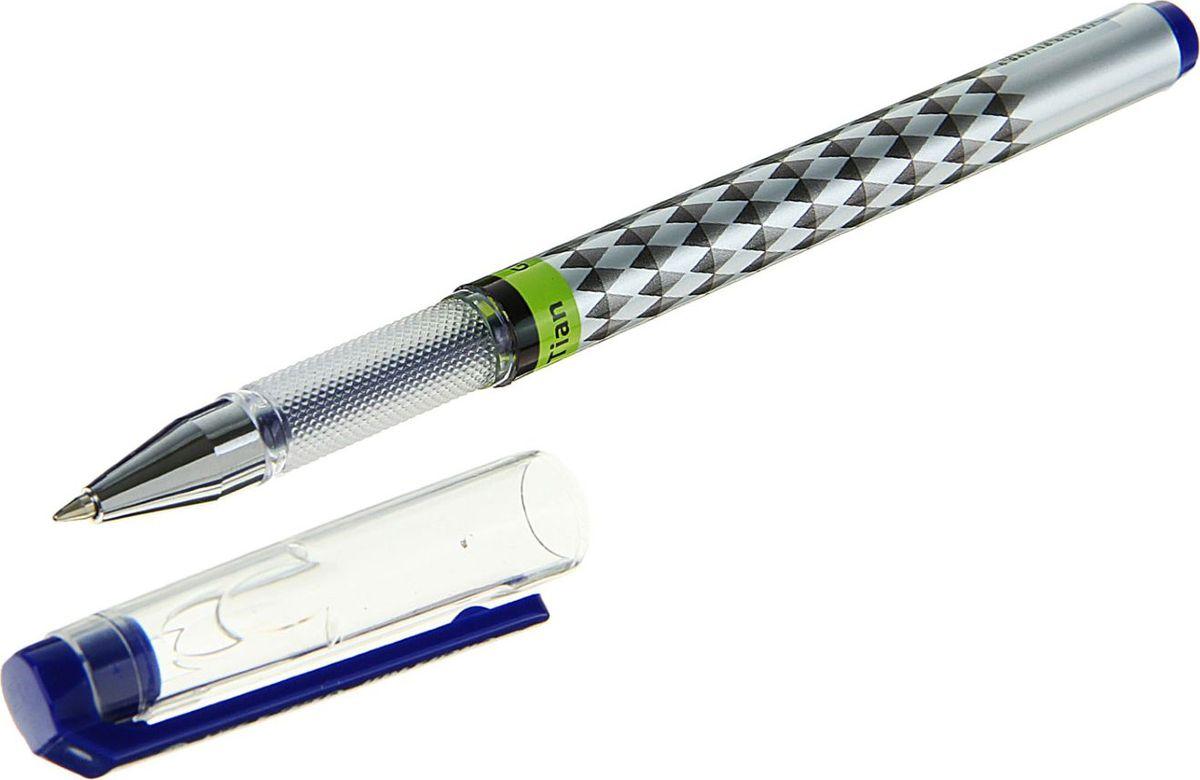 Ручка гелеваяцвет корпуса серый черный синяя1699920