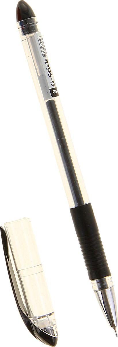 Erich Krause Ручка гелевая G-Stick EK черная1013828Удобная гелевая ручка с прозрачным корпусом и резиновым грипом. Пишущий узел 0. 5 мм обеспечивает чистое и четкое письмо. Наконечник металлизированный. Сменный стержень. Рекомендуется использовать стержень Erich Krause G-BASE.