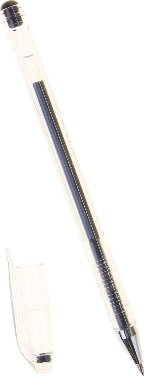 Crown Ручка гелевая HJR-500 черная1088406Классическая гелевая ручка Crown HJR-500 — легкий прозрачный корпус с рельефным упором, изящная линия письма придает мягкость ровному скольжению по бумаге. В гелевой ручке Crown содержатся специальные чернила, в состав которых входит вода и масляная основа. Водостойкие чернила хорошо пишут при низких температурах и долго не выцветают. Диаметр пишущего узла — 0,5 мм.