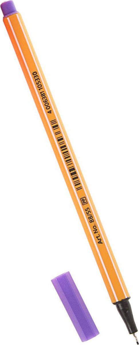 Stabilo Ручка капиллярная Point 88 фиолетовая1255616Капиллярная ручка STABILO point 88 идеально подходит для легкого и мягкого письма, черчения, рисования и раскрашивания. Металлический фиксатор наконечника дает возможность работать с линейками и трафаретами. Высокое качество и большой запас чернил существенно увеличивают срок службы ручки. Чернила на водной основе. Цвет колпачка соответствует цвету пасты. Толщина линии 0,4 мм.