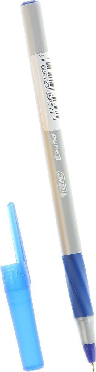 BIC Ручка шариковая Round Stic Exact синяя1314672Канцелярские принадлежности BIC известны во всем мире благодаря неизменно высокому качеству и простоте в использовании. Шариковая ручка BIC серии Round Stic Exact с диаметром шарика 0,7 мм обладает прорезиненным грифом, выполнена в пластиковом корпусе серого цвета с синими вставками. Особенности: новый остроконечный пишущий узел Round Stic Exact с технологией более гладкого скольжения по поверхности позволяет чертить красивые тонкие линии толщиной 0,35 мм. Шариковая ручка является одноразовой, сменных стержней нет.