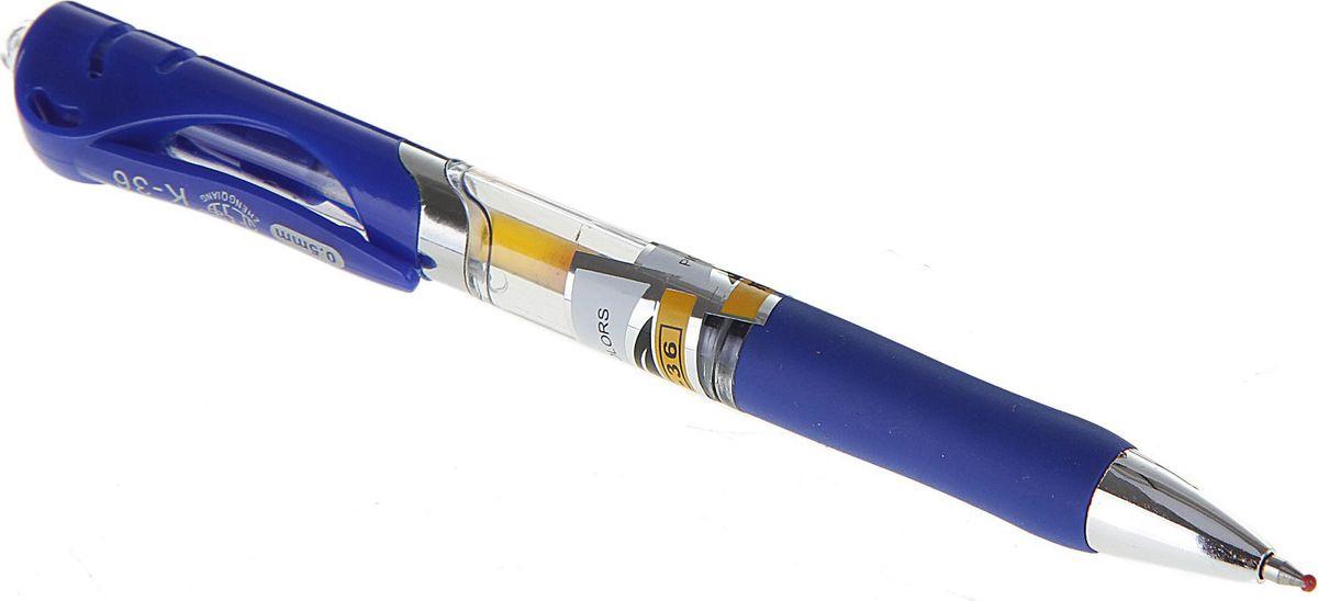 Xin Sheng Ручка гелевая синяя714391Ручка гелевая автоматическая 0,5 мм синяя, прозрачный корпус с резиновым держателем ASQIРучка — отличный выбор для любителей мягкого и удобного письма. Гелевая консистенция чернил равномерно распределяется по бумаге и быстро сохнет. Гладкое скольжение пишущего узла, удобный корпус и доказанная надежность делает такие ручки одними из самых популярных письменных принадлежностей среди детей и взрослых.