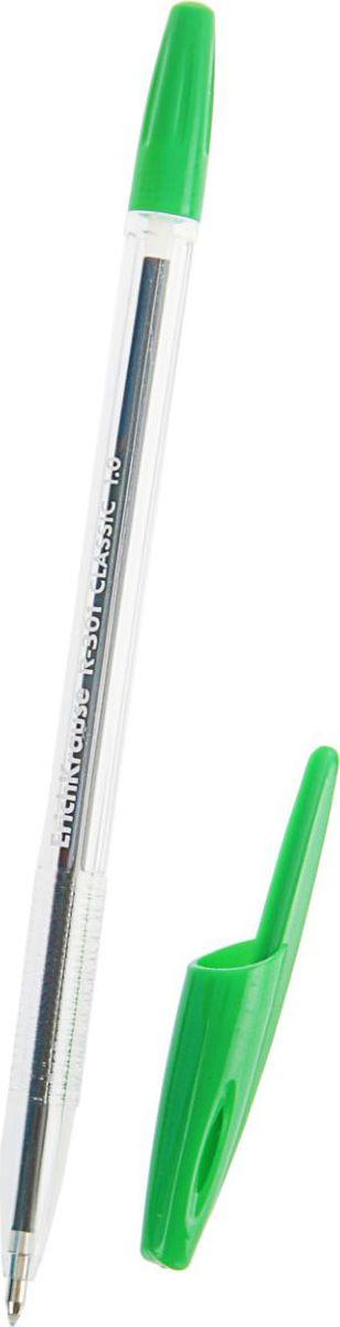 Erich Krause Ручка шариковая R-301 Orange EK зеленая 50 шт789563Удобная шариковая ручка эконом класса с прозрачным корпусом для контроля уровня чернил. Цвет вентилируемого колпачка и клипа соответствует цвету чернил. Пишущий узел 1. 0 мм обеспечивает четкое письмо. Сменный стержень. Рекомендуется использовать стержень Erich Krause.