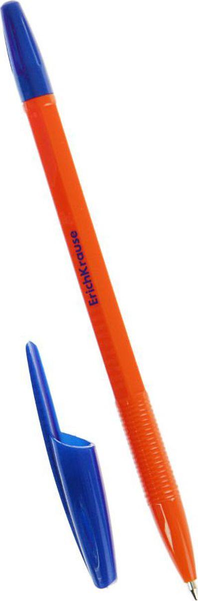 Erich Krause Ручка шариковая R-301 Orange EK синяя 50 шт789566Удобная шариковая ручка эконом класса. Цвет вентилируемого колпачка и клипа соответствует цвету чернил. Пишущий узел 0. 7 мм обеспечивает четкое письмо. Сменный стержень. Рекомендуется использовать стержень Erich Krause R-301.
