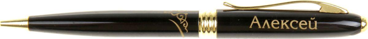 Ручка шариковая Тайна имени Алексей синяя865615Хотите сделать по-настоящему индивидуальный подарок? Тогда вам непременно понравится стильная и удобная именная . Выполненная в эффектной черно-золотистый цветовой гамме, она прекрасно дополнит образ своего обладателя и, без сомнения, станет излюбленным аксессуаром. А имя, выгравированное классическим шрифтом, придает изделию неповторимую лаконичность. Поворотный механизм надежен и удобен в повседневном использовании – ручка не откроется случайно и не оставит синих чернильных пятен на одежде. Оригинальная коробка в стиле ретро понравится любому мужчине и сделает такой подарок еще более желанным!
