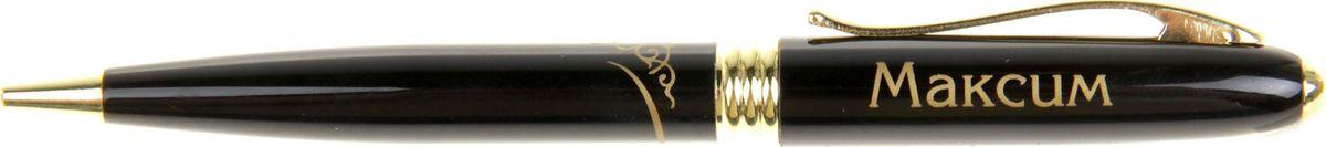 Ручка шариковая Тайна имени Максим синяя865624Хотите сделать по-настоящему индивидуальный подарок? Тогда вам непременно понравится стильная и удобная именная . Выполненная в эффектной черно-золотистый цветовой гамме, она прекрасно дополнит образ своего обладателя и, без сомнения, станет излюбленным аксессуаром. А имя, выгравированное классическим шрифтом, придает изделию неповторимую лаконичность. Поворотный механизм надежен и удобен в повседневном использовании – ручка не откроется случайно и не оставит синих чернильных пятен на одежде. Оригинальная коробка в стиле ретро понравится любому мужчине и сделает такой подарок еще более желанным!
