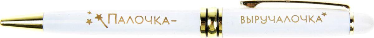 Ручка шариковая Палочка-выручалочка синяя865806Считаете, что подарок должен быть не только красивым, но и полезным? Ручка с уникальным дизайном – именно такой аксессуар. Она станет незаменимым помощником в работе и личной жизни, а ее стильный внешний вид будет дарить особое удовольствие при каждом использовании. Шариковая ручка выполнена в элегантном металлическом лакированном корпусе. Эксклюзивный дизайн дополняют блестящие золотистые детали и оригинальная надпись. Подача стержня осуществляется посредством механизма поворотного действия. Такой подарок отлично подойдет для друга, коллеги или близкого вам человека, будет ежедневно поднимать ему настроение. Поздравляйте с юмором!