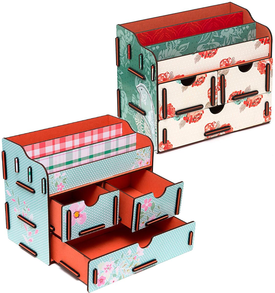 Набор шкатулок Homsu Аромат весенних цветов, для украшений, 2 штDEN-03Этот комплект из оригинальных сундучков имеет множество полочек сверху для хранения косметики, парфюмерии и аксессуаров, а также два маленьких ящичка размером 11см на 14,5см и один большой ящик размером 22см на 14,5см, которые позволят разместить в них все самое необходимое и сокровенное для каждой женщины. Шкатулочки можно поставить на стол, они станут отличным дополнением интерьера. 240х140х190; 240х140х190