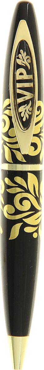 Ручка шариковая VIP синяя 127361127361Маленькие знаки внимания тоже могут быть изысканными и функциональными. Так, наша уникальная разработка объединила в себе классическую форму и оригинальный дизайн. Она выполнена в лаконичном черном цвете, с эффектной гравировкой на креплении и золотым принтом. Благодаря поворотному механизму вы никогда не поставите чернильное пятно на одежде и будете на высоте. Ручка станет отличным сувениром по поводу и без.