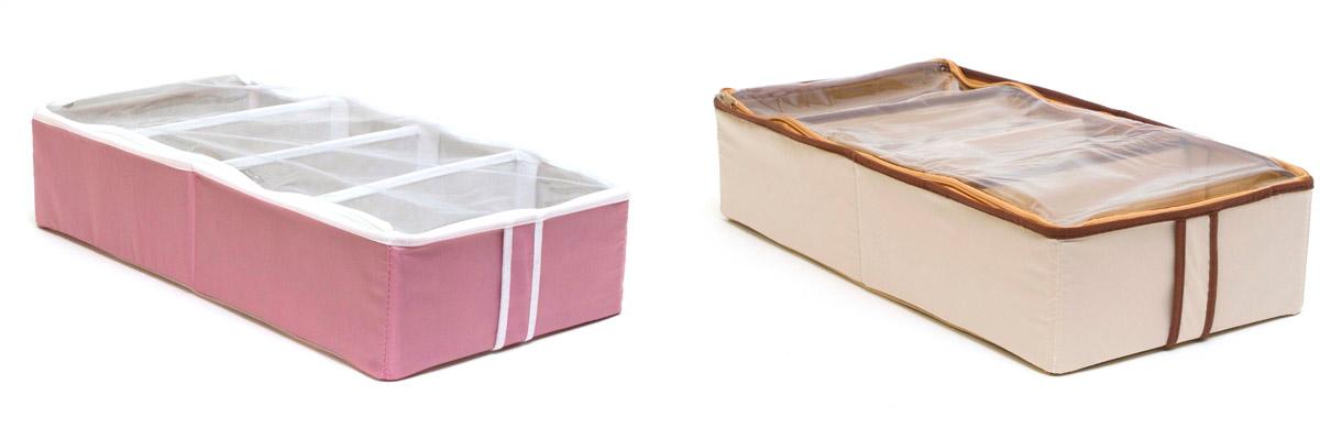 Система хранения для обуви Homsu, на 8 пар, 51 х 25 х 12 смDEN-14Набор органайзеров предназначен для удобного и компактного хранения обуви. Четыре отделения каждого органайзера размером 10см на 5см вмещают 4 пары обуви. Органайзеры плоские, их удобно хранить под кроватью или диваном. Внутренние секции можно моделировать под размеры обуви, например высокие сапоги. Они имеют жесткие борта, что является гарантией сохраности вещей. Богатый яркий цвет органайзеров отлично дополнит интерьер, придавая ему оригинальный стиль. 510х250х120; 510х250х120