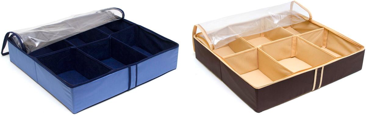Система хранения для обуви Homsu, на 12 пар, 54 х 51 х 12 смDEN-15Набор органайзеров предназначен для удобного и компактного хранения обуви. Шесть отделений каждого органайзера размером 10см на 7см вмещают 6 пар обуви. Органайзеры плоские, их удобно хранить под кроватью или диваном. Внутренние секции можно моделировать под размеры обуви, например высокие сапоги. Они имеют жесткие борта, что является гарантией сохраности вещей. Богатый яркий цвет органайзеров отлично дополнит интерьер, придавая ему оригинальный стиль. 540х510х120; 540х510х120