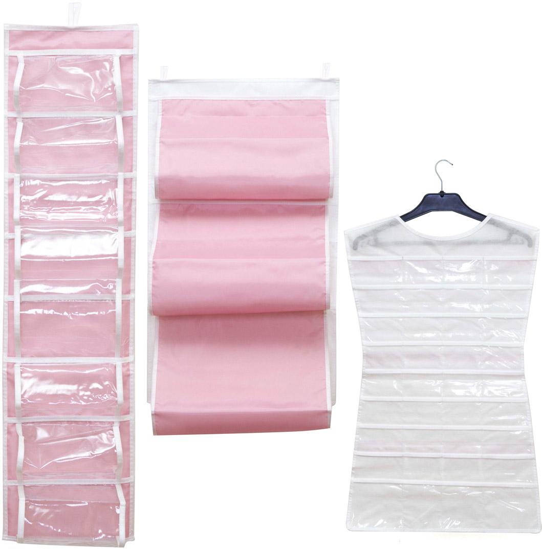 Набор органайзеров Homsu, подвесных, цвет: розовый, 3 штDEN-21Набор органайзеров предназначен для удобного и компактного хранения различных вещей и бижутерии. Нежный розовый цвет отлично дополняет интерьер, придавая ему оригинальный стиль. В набор входят 3 органайзера: Кофр подвесной для сумок розовый; Органайзер розовый подвесной двусторонний на 16 карманов; Органайзер розовый для бижутерии Выбирая набор органайзеров, вы приобретаете практичное хранение вещей, стильные аксессуары для интерьера и свободное пространство. 400х700; 200х800; 750х450
