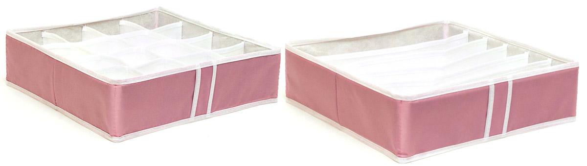 """Набор органайзеров """"Homsu"""", для нижнего белья, цвет: розовый, 2 шт DEN-22"""