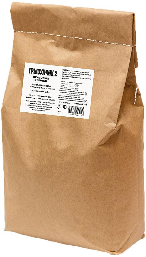 Корм-лакомство для грызунов и кроликов Грызунчик Зерновые орешки, 2,5 кг5623Гранулированный корм-лакомство для хомяков, морских свинок, мышей, крыс, шиншилл, дегу, песчанок, белок и других декоративных грызунов и кроликов в экономичной упаковке. Этот корм содержит в сбалансированном соотношении все основные питательные вещества (белки, жиры, клетчатку), минеральные вещества и витамины, необходимые для нормального развития и жизнедеятельности Вашего зверька. Поэтому корм ГРЫЗУНЧИК может быть использован в качестве повседневного корма, который необходимо дополнять лишь зелеными и сочными кормами. Корм ГРЫЗУНЧИК по праву называется кормом-лакомством, поскольку он имеет привлекательные для животного вкус и хрустящую структуру, удобные форму и размер гранул, а благодаря применению современных технологий - высокую усвояемость и питательную ценность. Состав: овес, просо, пшеница, кукуруза, ячмень, гречиха, пивные дрожжи, содержащие натуральный комплекс витаминов группы В.