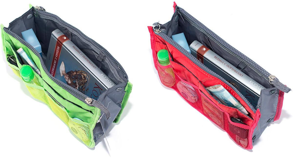 Набор косметичек Homsu, цвет: красный, зеленый, 28 х 10 х 17 см, 2 штDEN-38Модный и стильный современный дизайн, а также высокая практичная польза – в этих органайзерах очень органично объединены несколько плюсов. Изделия обладают крепкой ручкой, поэтому их легко можно использовать и отдельно от сумки. Если же вставить органайзеры в сумку, вы получите превосходную возможность раз и навсегда навести в ней идеальный порядок, который будет легко поддерживать, распределив все вещи по отдельным кармашкам. 280x100x170; 280x100x170