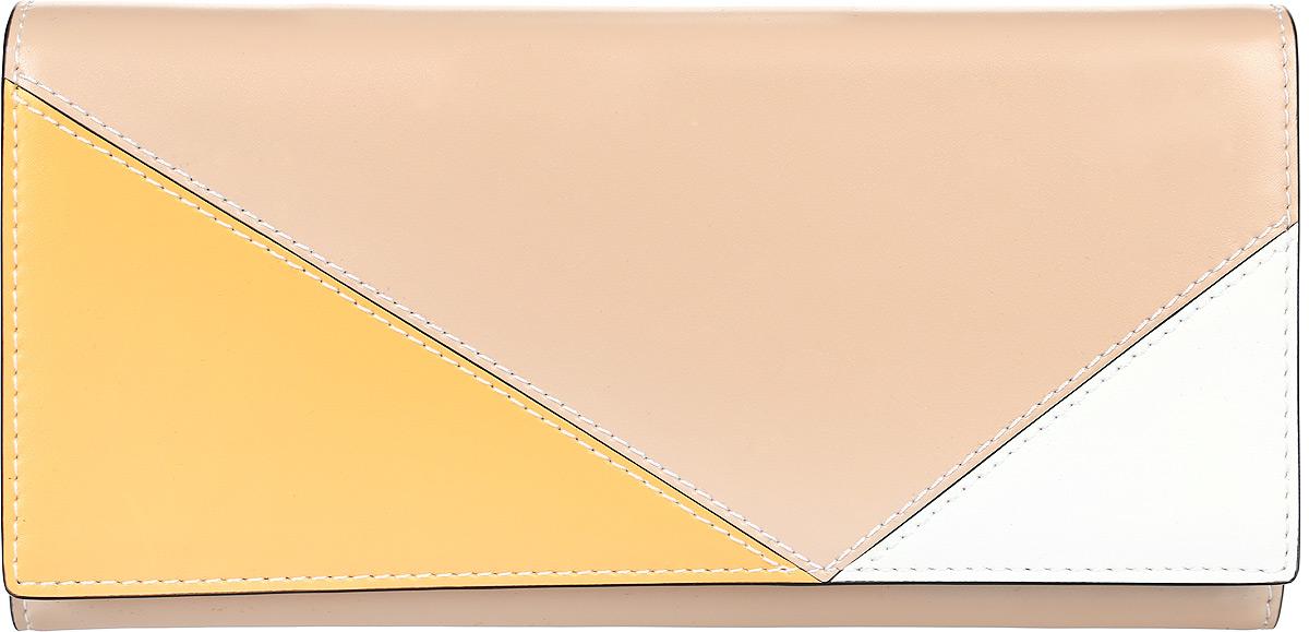 Кошелек женский Leo Ventoni, цвет: бежевый, желтый, белый. L330981 L330981-tan