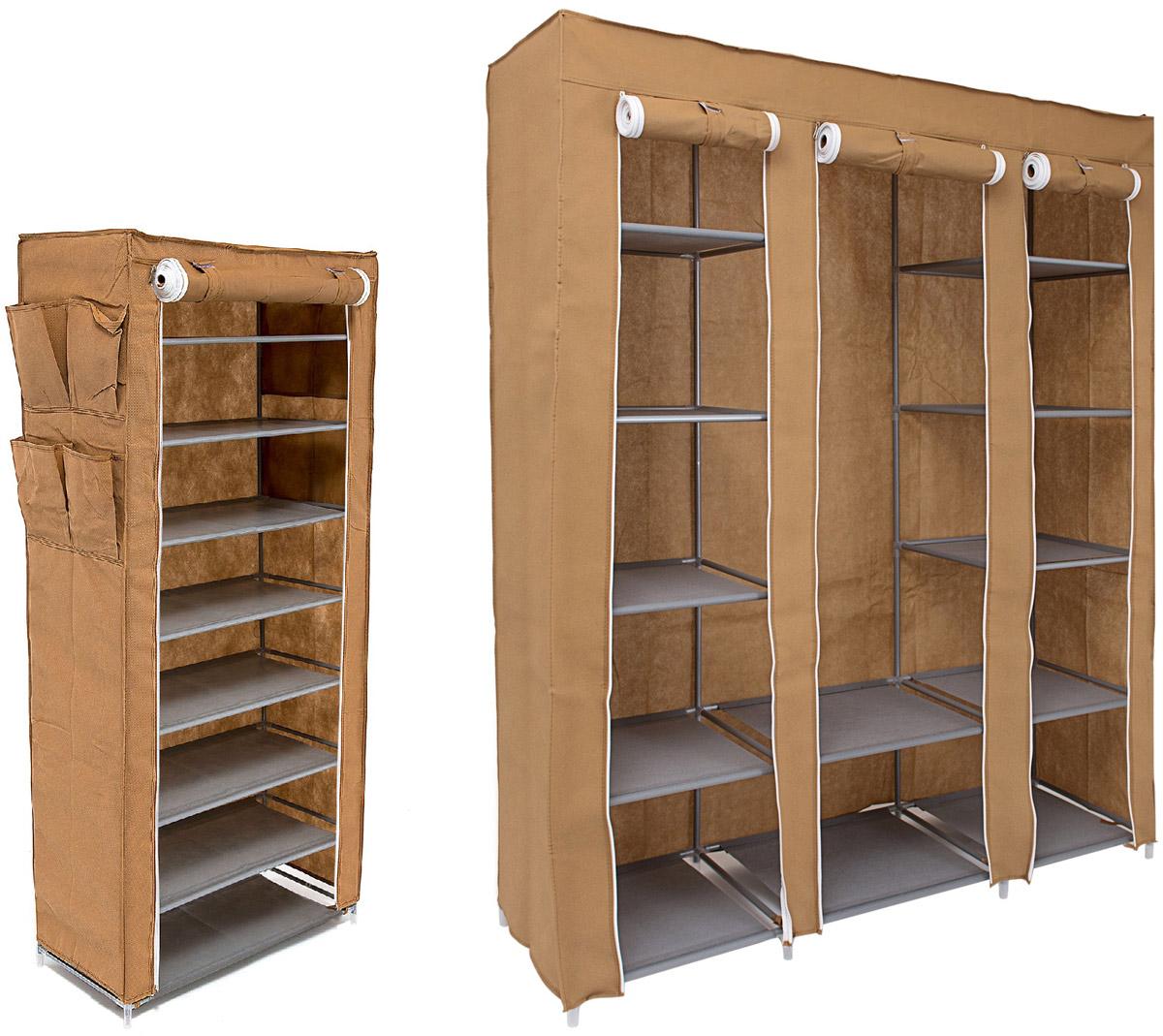 Набор кофров для хранения Homsu Классический, 2 штDEN-42Уникальный дизайн этого комплекта станет настоящим украшением для любого интерьера. Практичная составляющая подобной мебели также вне сомнений. Лёгкие и прочные устойчивые конструкции из каркасов и тканевой обивки могут быть легко собраны вами без посторонней помощи, буквально за несколько минут. Такая мебель будет всегда удобной и максимально практичной, ведь верхнюю тканевую часть при надобности можно всегда постирать либо же попросту поменять на аналогичную другого цвета. Кроме того, такие конструкции всегда будут отличным решением для того, кому по душе мобильность и постоянная смена обстановки. 1350х450х1750; 600х300х1360