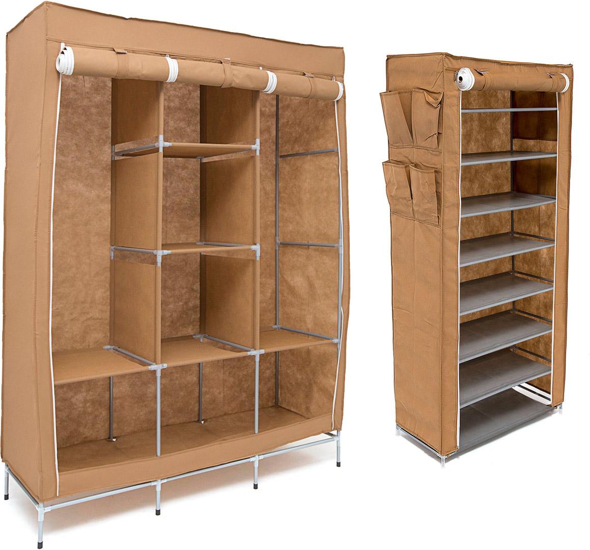 Набор кофров для хранения Homsu Medium, цвет: коричневый, 2 штDEN-47Уникальный дизайн этого комплекта станет настоящим украшением для любого интерьера. Практичная составляющая подобной мебели также вне сомнений. Лёгкие и прочные устойчивые конструкции из каркасов и тканевой обивки могут быть легко собраны вами без посторонней помощи, буквально за несколько минут. Такая мебель будет всегда удобной и максимально практичной, ведь верхнюю тканевую часть при надобности можно всегда постирать либо же попросту поменять на аналогичную другого цвета. Кроме того, такие конструкции всегда будут отличным решением для того, кому по душе мобильность и постоянная смена обстановки. 1300х450х1720; 600х300х1360