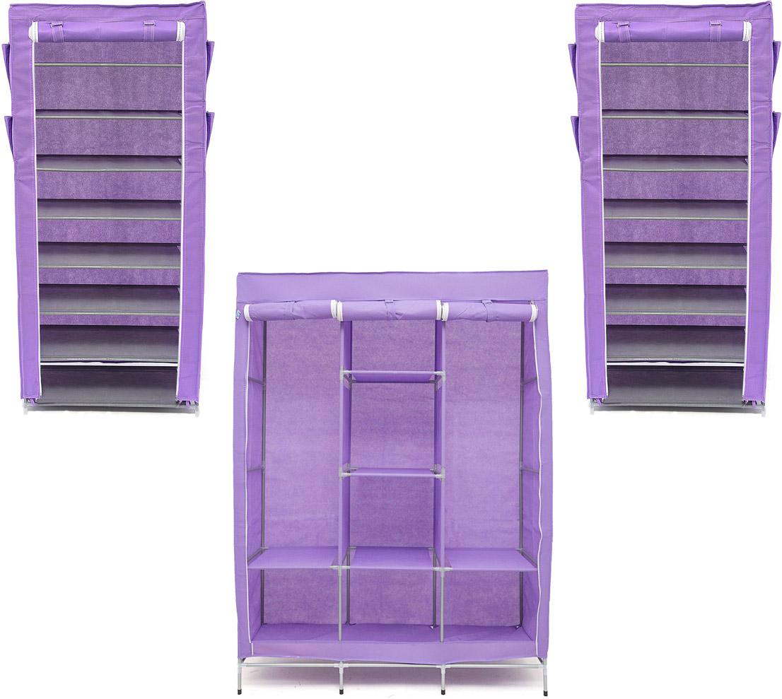 Набор кофров для хранения Идеальное хранение, цвет: фиолетовый, 3 штDEN-55Уникальный дизайн этого комплекта станет настоящим украшением для любого интерьера. Практичная составляющая подобной мебели также вне сомнений. Лёгкие и прочные устойчивые конструкции из каркасов и тканевой обивки могут быть легко собраны вами без посторонней помощи, буквально за несколько минут. Такая мебель будет всегда удобной и максимально практичной, ведь верхнюю тканевую часть при надобности можно всегда постирать либо же попросту поменять на аналогичную другого цвета. Кроме того, такие конструкции всегда будут отличным решением для того, кому по душе мобильность и постоянная смена обстановки. 1300х450х1720; 600х300х1360; 600х300х1360