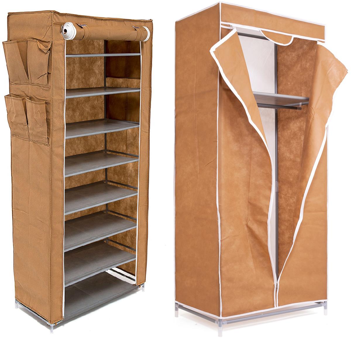 Набор кофров для хранения Homsu, цвет: коричневый, 2 предметаDEN-57Уникальный дизайн этого комплекта станет настоящим украшением для любого интерьера. Практичная составляющая подобной мебели также вне сомнений. Лёгкие и прочные устойчивые конструкции из каркасов и тканевой обивки могут быть легко собраны вами без посторонней помощи, буквально за несколько минут. Такая мебель будет всегда удобной и максимально практичной, ведь верхнюю тканевую часть при надобности можно всегда постирать либо же попросту поменять на аналогичную другого цвета. Кроме того, такие конструкции всегда будут отличным решением для того, кому по душе мобильность и постоянная смена обстановки. 680х450х1550; 600х300х1360