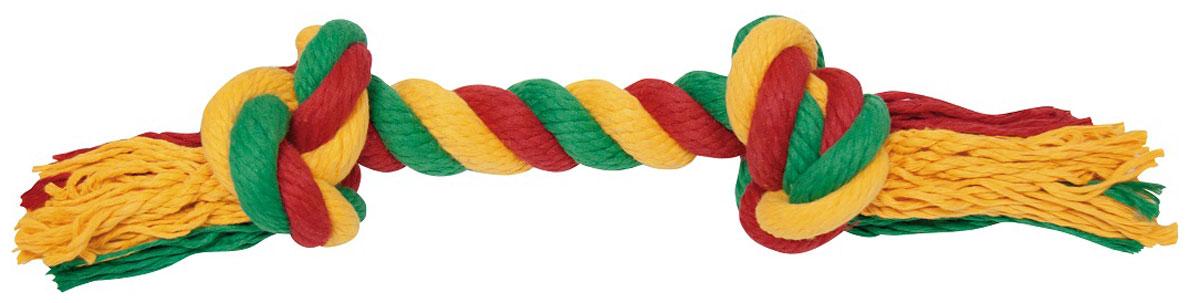 """Игрушка для собак Зооник """"Канат"""", 2 узла, длина 40 см 16001"""