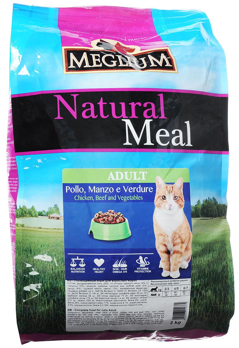 Корм сухой Meglium для кошек, с говядиной и курицей, 3 кгMGS0103Сбалансированный корм с оптимальным соотношением белков жиров, обеспечивает суточную пищевую потребность. Содержит жизненноважные витамины и минералы, таурин, Омега 3 и 6 жирные кислоты.