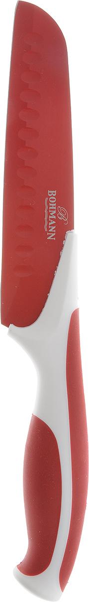 Нож кухонный Bohmann Non-Stick, цвет: красный, длина лезвия 15 см5219BH_красныйНож кухонный Bohmann Non-Stick, цвет: красный, длина лезвия 15 см