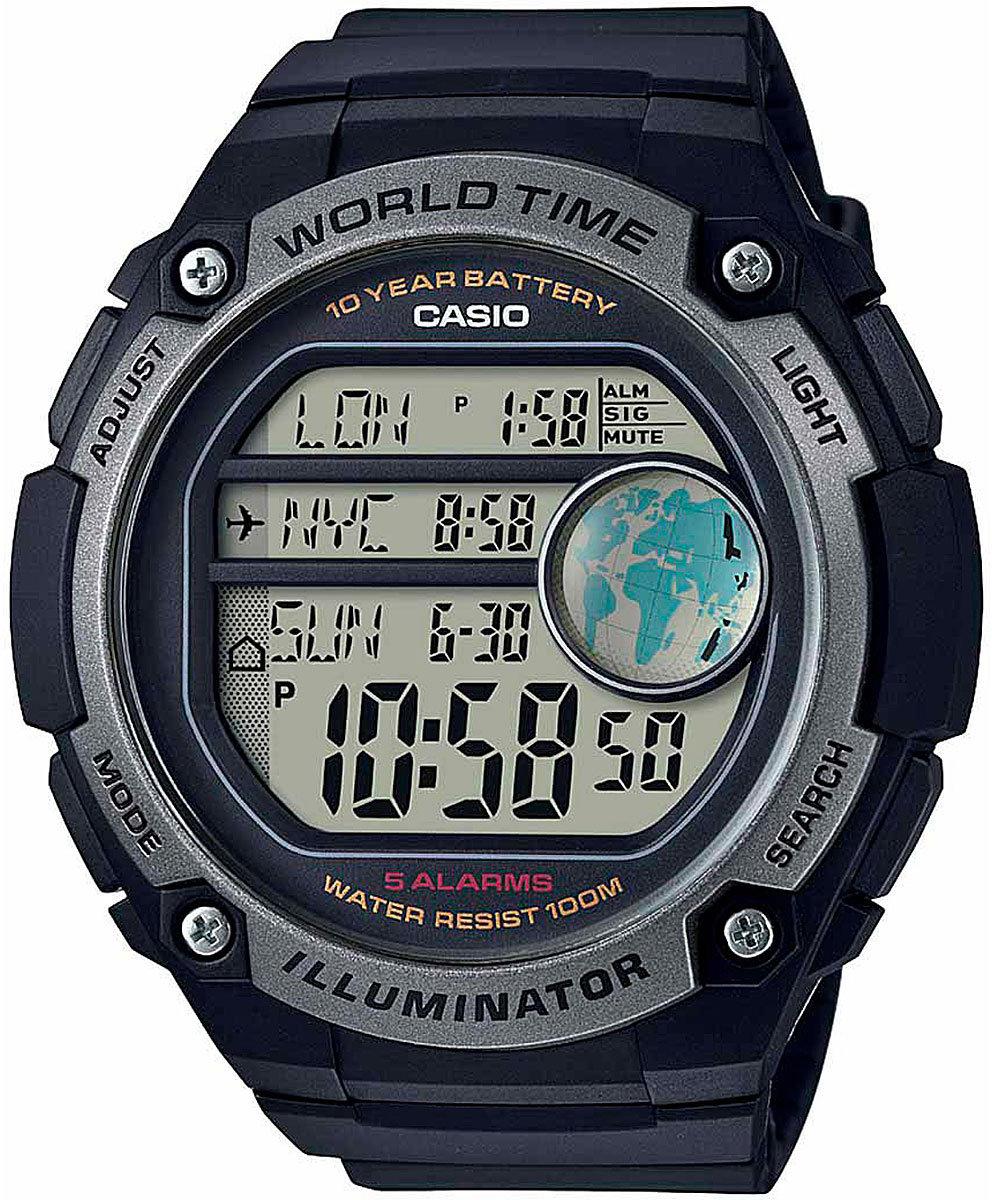 Наручные часы мужские Casio Collection, цвет: черный, серый. AE-3000W-1AAE-3000W-1A