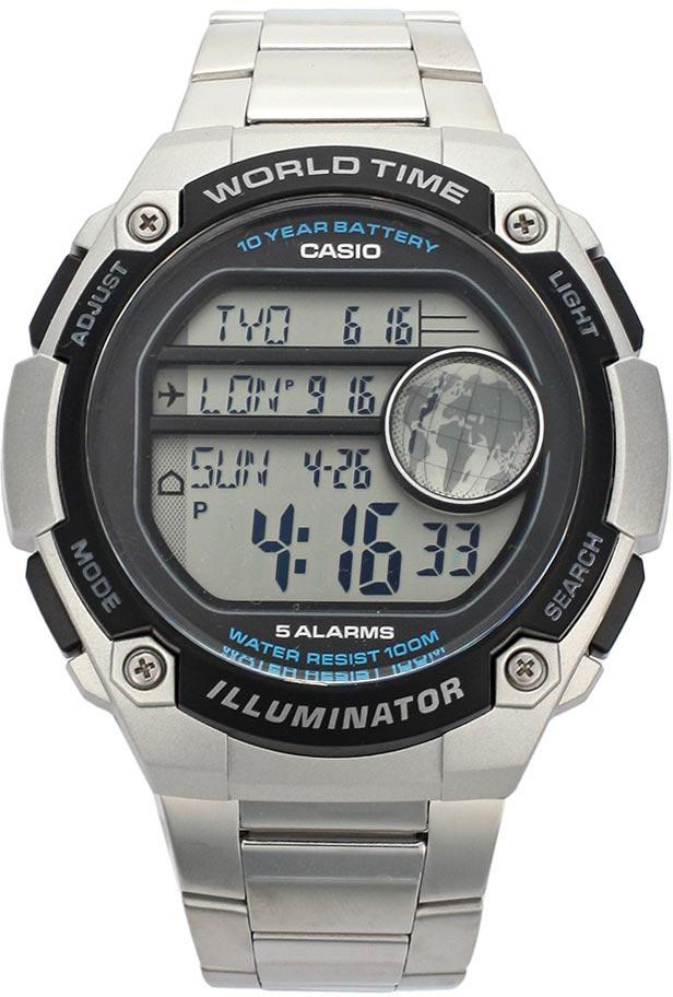 Наручные часы мужские Casio Collection, цвет: черный, стальной. AE-3000WD-1AAE-3000WD-1A