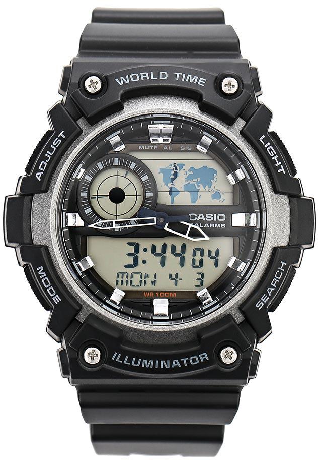 Наручные часы мужские Casio Collection, цвет: черный, серый. AEQ-200W-1AAEQ-200W-1A