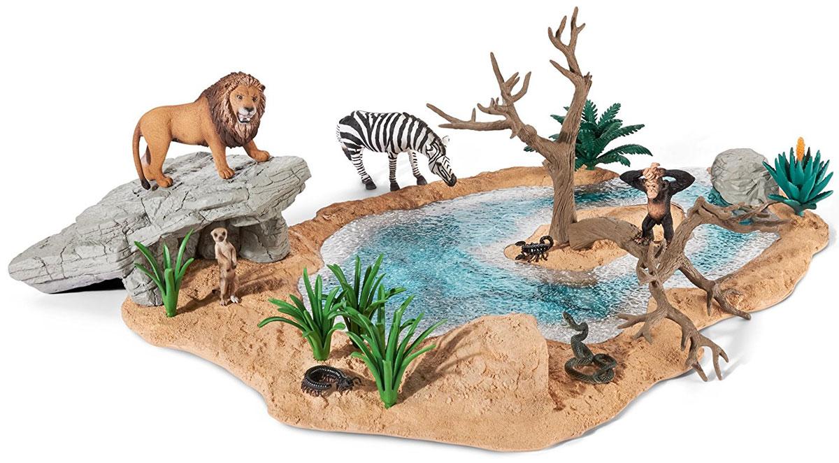 Schleich Игровой набор Водопой schleich игровой набор пещера со львом