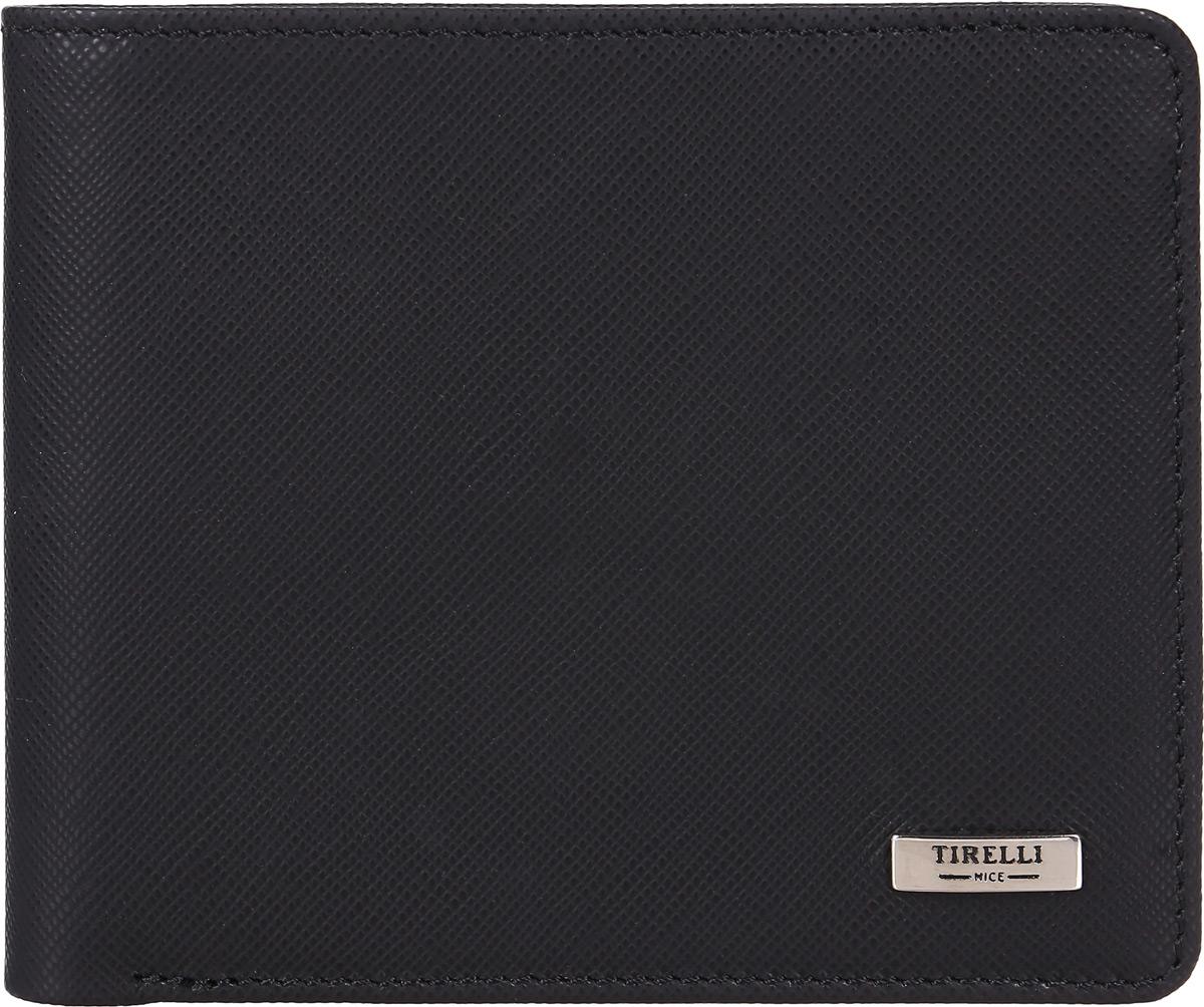 Портмоне мужское Tirelli, цвет: черный. 15-315-0415-315-04Мужское портмоне от Tirelli выполнено из натуральной кожи. Внутри у модели два отдела для купюр, три кармашка для пластиковых карт, один скрытый карман, отделение с пластиковым окном.