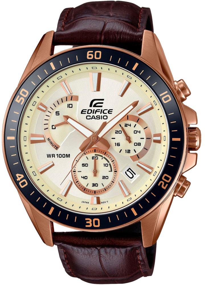 Наручные часы мужские Casio Edifice, цвет: розово-золотой. EFR-552GL-7AEFR-552GL-7A