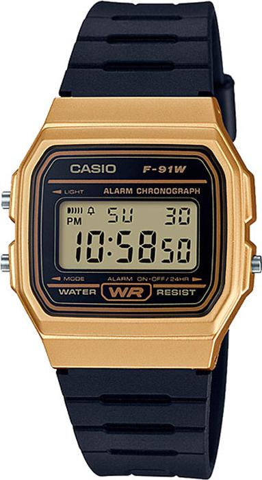 Наручные часы мужские Casio, цвет: черный. F-91WM-9AF-91WM-9A