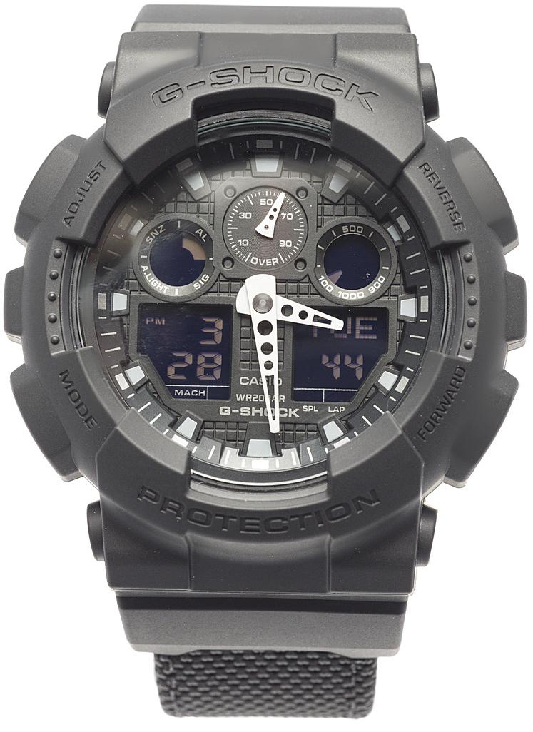 Наручные часы мужские Casio G-Shock, цвет: черный. GA-100BBN-1AGA-100BBN-1A
