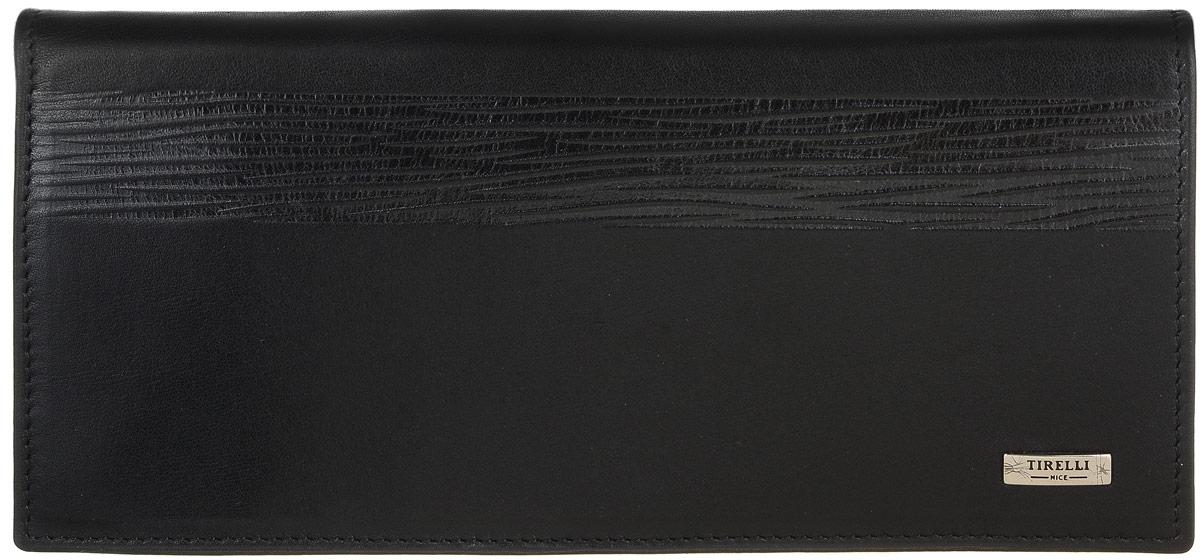Портмоне мужское Tirelli, цвет: черный. 15-224-0815-224-08Портмоне мужское Tirelli изготовлено из натуральной кожи с матовой текстурой. Модель оформлена фирменным логотипом. Внутри имеется три отделения для купюр и одиннадцать прорезных кармашков для хранения пластиковых карт, визиток, дисконтных карт, окошко-сеточка для фото, одно отделение для бумаг и карман на застежке-молнии. Такое портмоне не только поможет сохранить внешний вид ваших документов и защитит их от повреждений, но и станет ярким аксессуаром, который подчеркнет ваш образ.