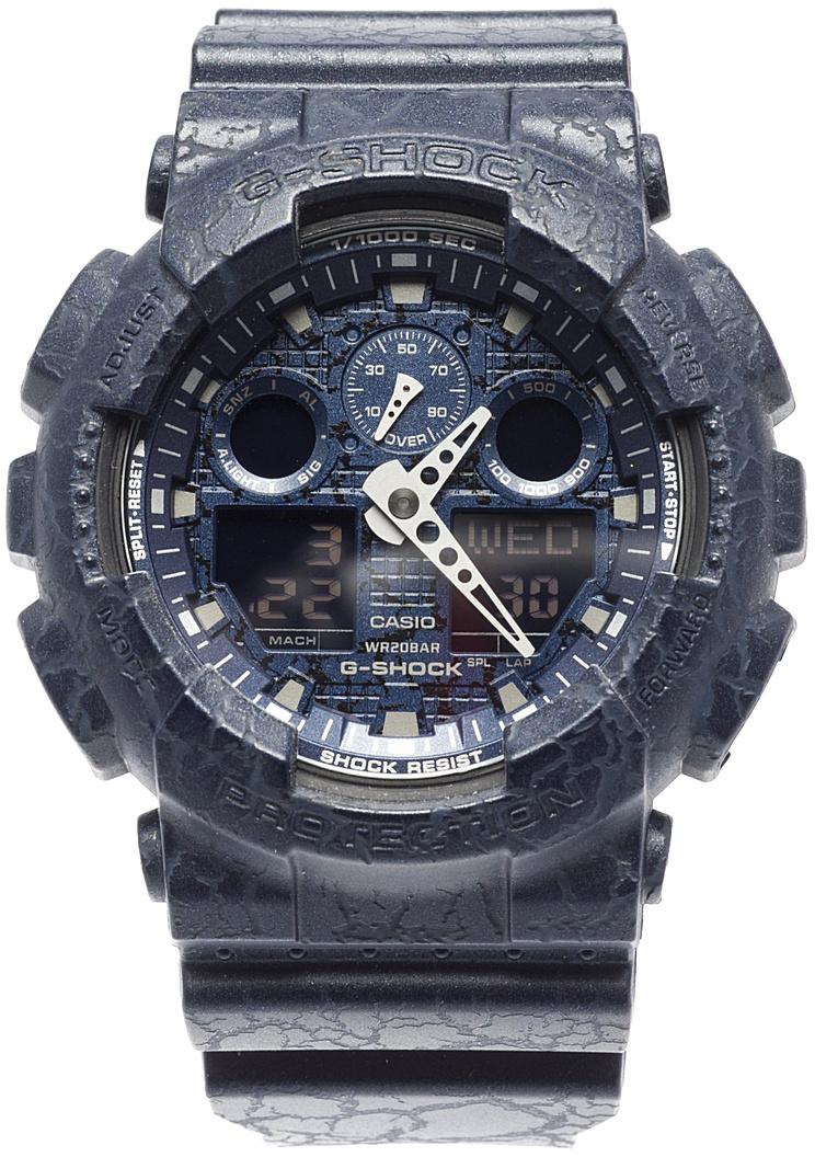 Наручные часы мужские Casio G-Shock, цвет: темно-синий. GA-100CG-2AGA-100CG-2A