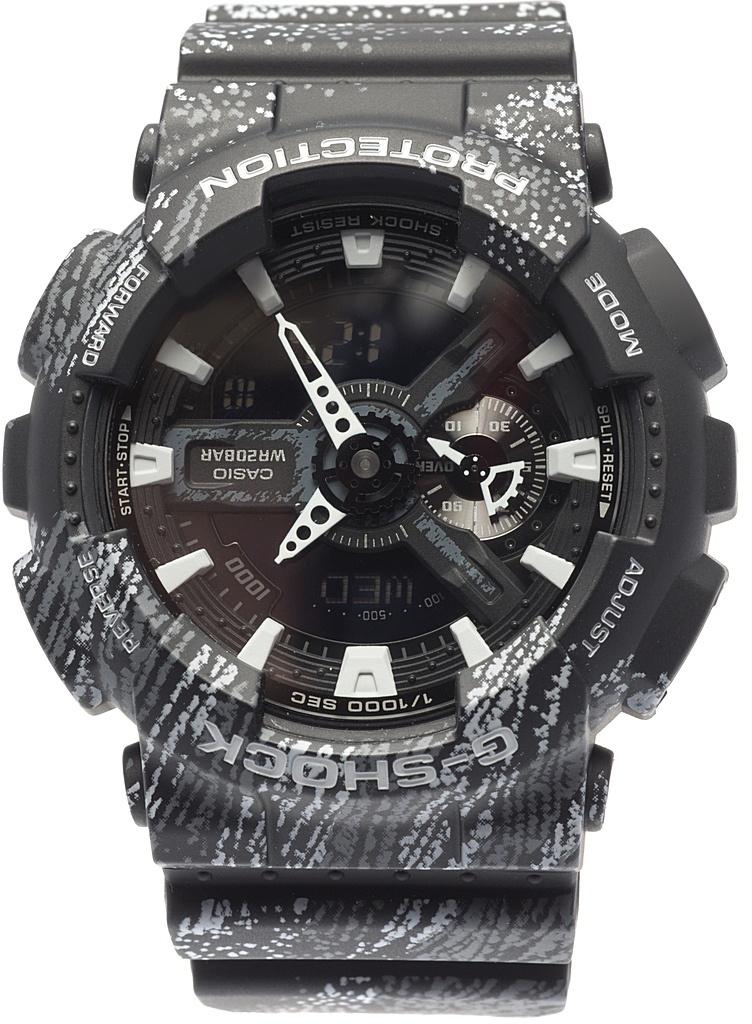 Наручные часы мужские Casio G-Shock, цвет: черный, белый. GA-110TX-1AGA-110TX-1A