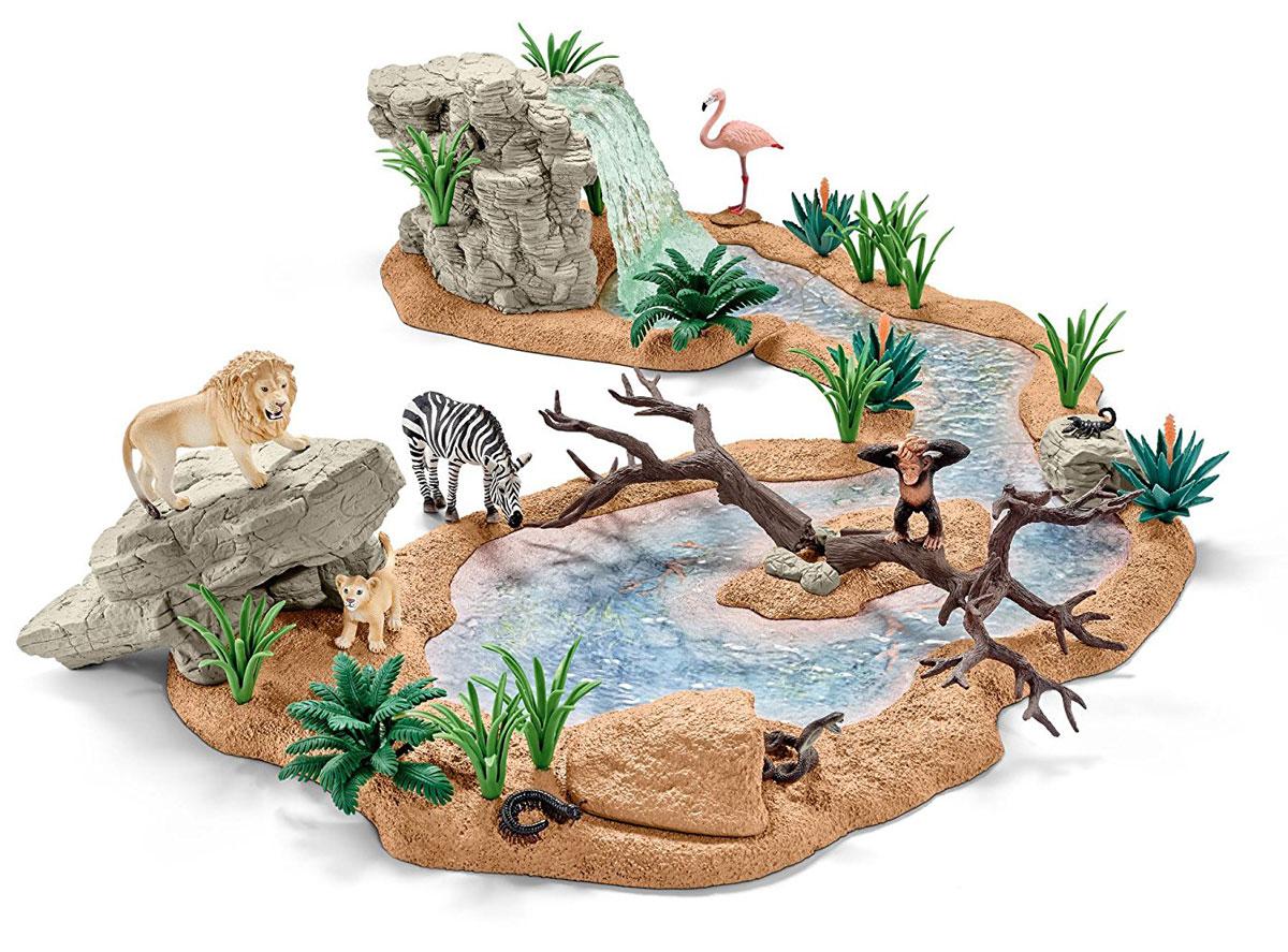 Schleich Игровой набор Заводь с животными schleich игровой набор пещера со львом