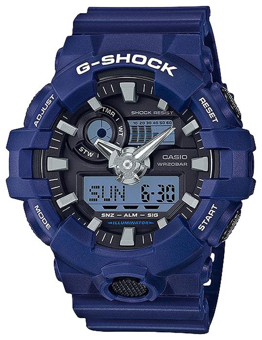 Наручные часы мужские Casio G-Shock, цвет: синий, черный. GA-700-2AGA-700-2A
