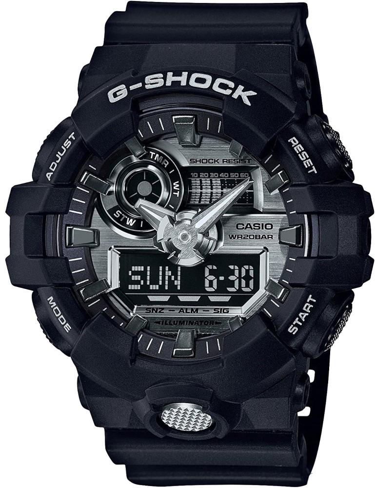 Наручные часы мужские Casio G-Shock, цвет: черный, серый. GA-710-1AGA-710-1A