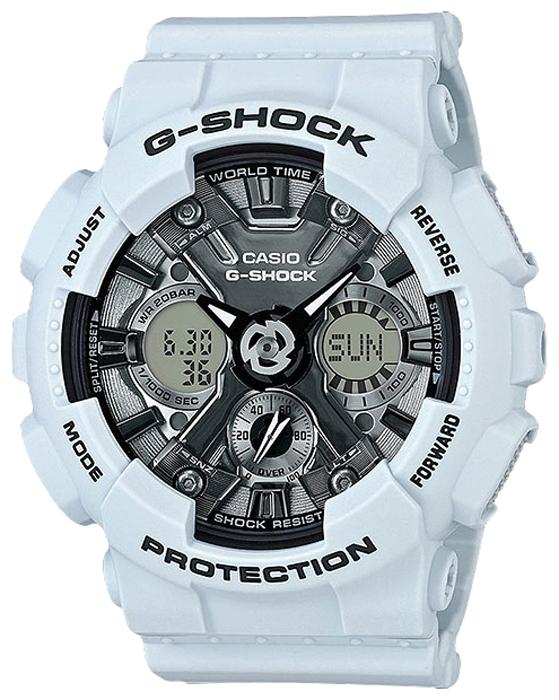Наручные часы женские Casio G-Shock, цвет: голубой, черный. GMA-S120MF-2AGMA-S120MF-2A